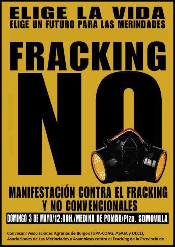 Manifestacion contra el fracking en Medina de Pomar 3 de mayo 2015