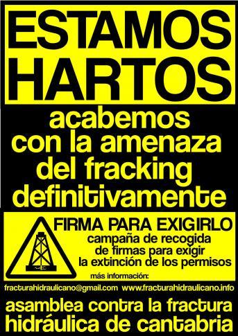Firma contra el fracking. Cantabria