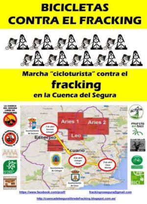 """Bicicletas, por la Cuenca del Segura, contra el """"fracking"""""""