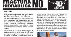 Publicada la hoja informativa de mayo de 2017. Fracking. Cantabria