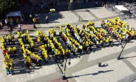 Foto aérea contra el fracking en Torrelavega