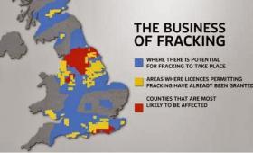 fracking en Reino Unido