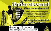 Fiesta-celebración por la extinción del permiso de fracking Luena de Repsol en Vega de Pas
