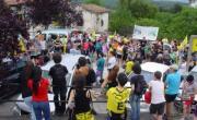 Concentración de las Asambleas contra el fracking de Vizcaya y Burgos en el nacimiento del rio Cadagua. Junio 2014