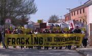 Manifestación Sotopalacios. Burgos contra el fracking. Abril 2014