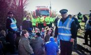104 días de bloqueo comunitario contra el fracking en el norte de Inglaterra. Gran Manchester