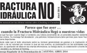 Publicada la Hoja informativa de abril de 2014. Fracking. Cantabria. Fractura hidráulica