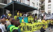 Alrededor de 4.000 personas dicen en Medina de Pomar no al fracking y no convencionales