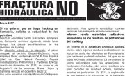 Publicada la hoja informativa de enero de 2017. Fracking. Cantabria