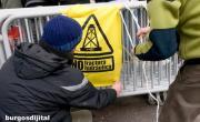 Protesta contra la fractura hidráulica ante la FAE y su conferencia pro-fracking en Burgos