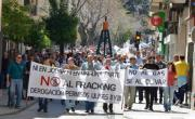 Crónica de la manifestación contra el fracking el pasado 6 de abril en Jódar, Jaén