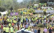 3000 personas contra el fracking en Medina de Pomar y Villarcayo