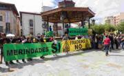 Merindades Sí Fracking No. Manifestación contra el fracking en Villarcayo. 30 de agosto de 2014